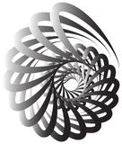 Spiral volute, snail shape, element. Rotating, twirling abstract Stock Image