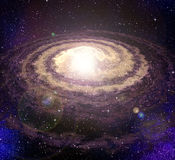 Spiral vortex galaxy in space Royalty Free Stock Image