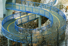 Spiral walkway below LRT in Edmonton Stock Images