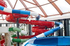 Spiral water slide Royalty Free Stock Photography