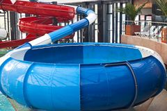 Spiral water slide Royalty Free Stock Images