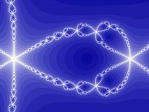 Spiral ways. White spirals forming star shapes on blue background Royalty Free Stock Photo