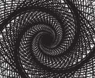 Spiral whirl abstract background black and white Stock Photography