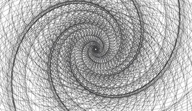 Spiral whirl abstract background black and white Royalty Free Stock Image