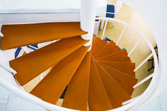 Spiral wood stairs Royalty Free Stock Photography
