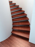 Spiral wooden staircase Stock Photos