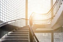 Spiral wooden staircase. Circular Staircase. Stock Photos