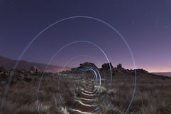 Spirala światło na wzgórzu Obrazy Stock