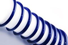 Spirala błękitny szkło na białym tle Zdjęcia Royalty Free