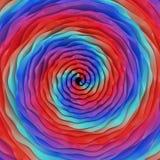 Spirala bakgrunder för våg Arkivbild