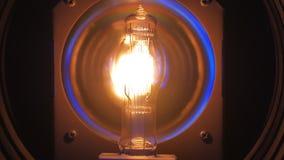 Spirala elektryczna lampa profesjonalisty światło wyłacza dalej, zakończenie zbiory