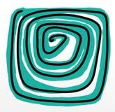 Spirala humoristiska komiker med maskot och symboler stock illustrationer
