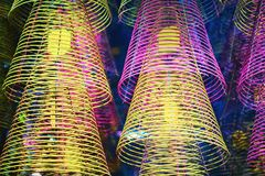 Spirala kije dla ono modli się przy Ong świątynią wewnątrz Mogą Tho obrazy royalty free