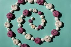 Spirala marshmallows obrazy stock