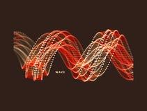 spirala Podłączeniowa struktura Abstrakcjonistyczny siatka projekt 3d wektorowa ilustracja dla nauki Zdjęcia Royalty Free