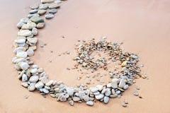 Spirala przy piaskiem fotografia stock
