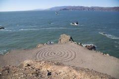 Spirala przy zatoką zdjęcie stock
