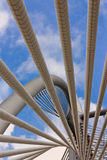 Spirala słupy przy zawieszenie mostem, Putrajaya Obraz Royalty Free