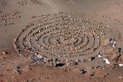 Spirala skały - Etna wulkanu krater zdjęcie stock