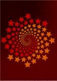 spirala stjärnor vektor illustrationer