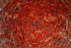 Spirala tegelstenar Arkivbilder