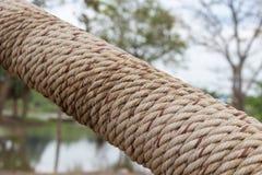 Spirala wielka konopiana arkana zawija? woko?o metal drymby obraz stock