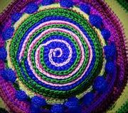 Spirala z tkanymi niciami w formie okręgu fotografia royalty free