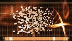Spiralbakgrund med medicinska video stock video