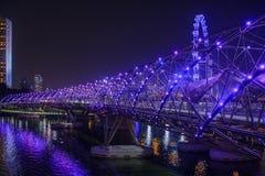 Spiralbro i Singapore Royaltyfri Fotografi
