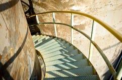 Spiralc stalowi schodki Zdjęcia Stock