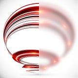 Spirale abstraite avec la bannière en verre brouillée Photos libres de droits