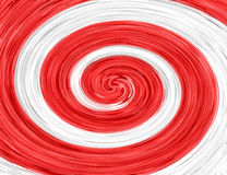 Spirale abstraite blanche rouge Photos stock