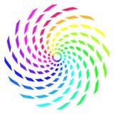 Spirale abstraite d'arc-en-ciel Photographie stock libre de droits