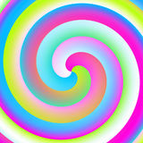 Spirale al neon Fotografie Stock