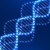 Spirale au néon d'ADN abrégez le fond Photographie stock