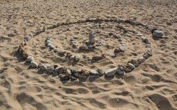 Spirale auf dem Sand Lizenzfreie Stockbilder
