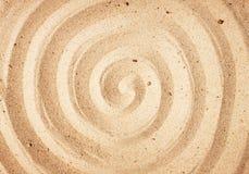 Spirale auf Sand Stockfotos
