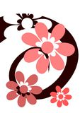 Spirale avec les fleurs roses Illustration de Vecteur