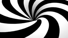 Spirale in bianco e nero astratta con il foro illustrazione di stock