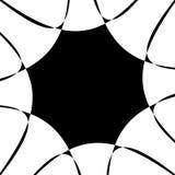 Spirale in bianco e nero astratta Radiale, irradiando le linee con lo PS Fotografie Stock