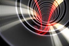 Spirale blanche avec la lumière rouge Photographie stock libre de droits