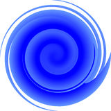 Spirale bleue Photos stock