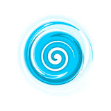 Spirale bleue Photo stock
