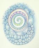 Spirale bleue Photos libres de droits