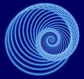 Spirale bleue de fractale illustration stock