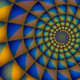 Spirale blu ed arancione Fotografie Stock Libere da Diritti