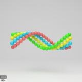 spirale calibre du vecteur 3d Illustration abstraite composition en sphères 3d Photo libre de droits