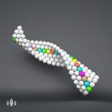 spirale calibre du vecteur 3d Illustration abstraite sphères 3d Photo libre de droits