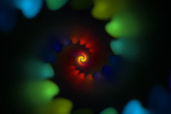 Spirale colorée Photographie stock