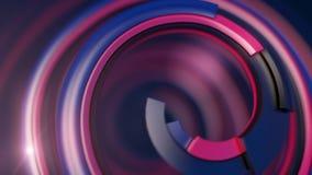 Spirale colorée abstraite sur le fond foncé rendu 3d illustration de vecteur